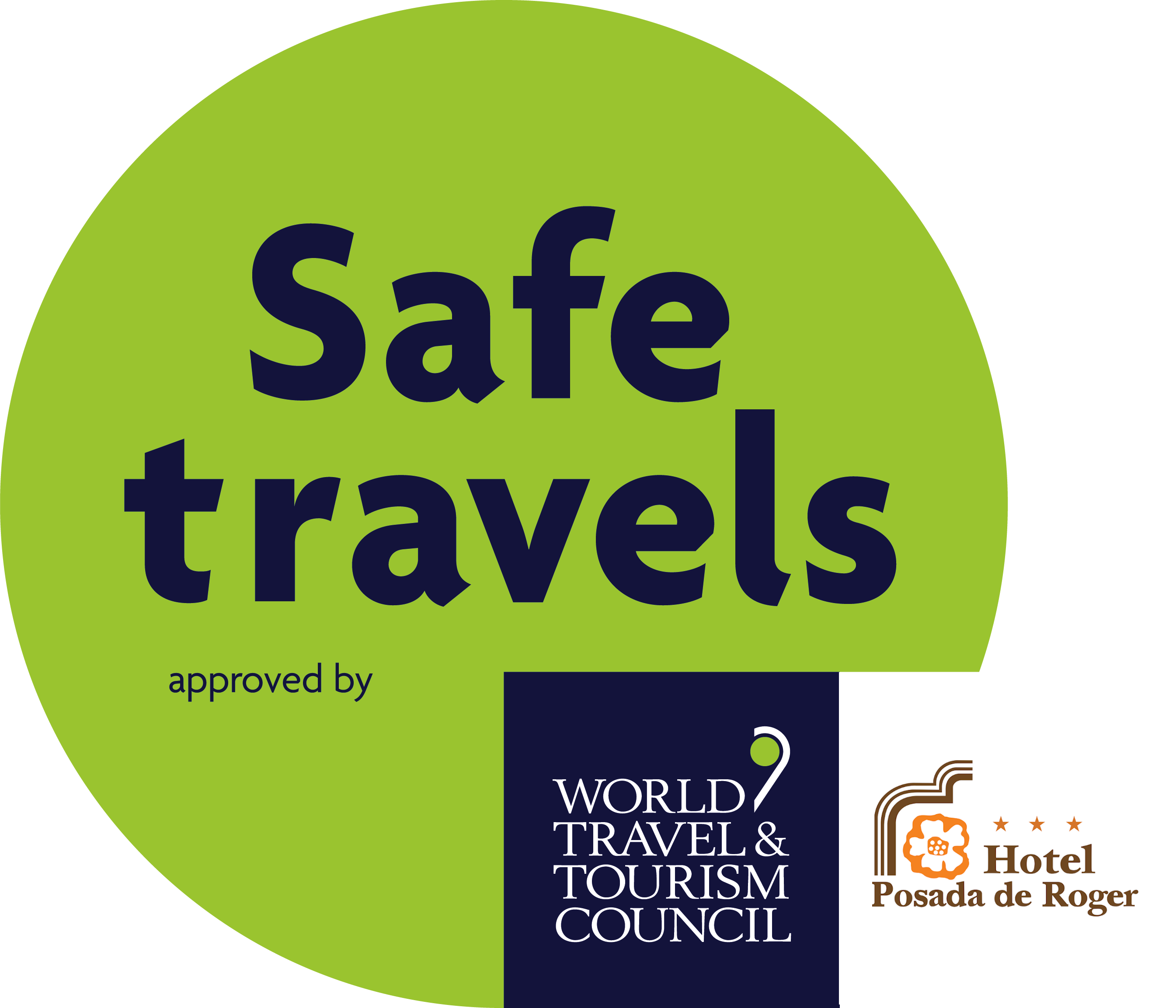 Safe travels approved by world travel and tourism council